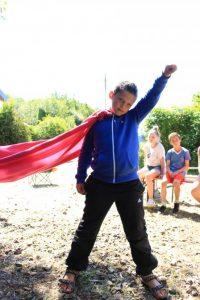 Kind als Superheld
